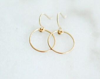 Chalice - Gold Hoop Earrings