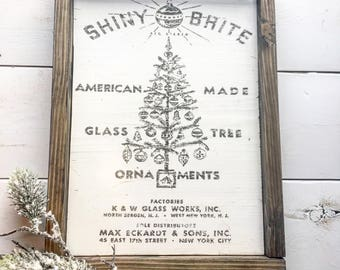 Vintage Christmas Shiny Brite Ornaments