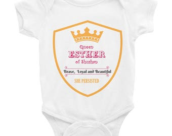Queen Esther: She Persisted Baby Onesie