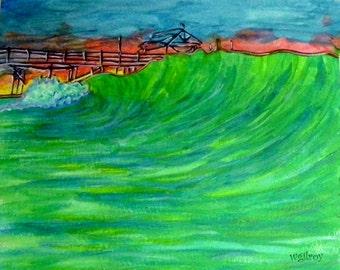 Cocoa Beach Pier...wgilroy...Beach Art...Surf Art by W Gilroy...Sunrise Art...Pier Art...Pier Acrylic Art...Acrylic Art...