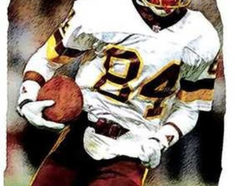 Gary Clark Washington NFL Football Rare Art Print 12x18 LE of 50