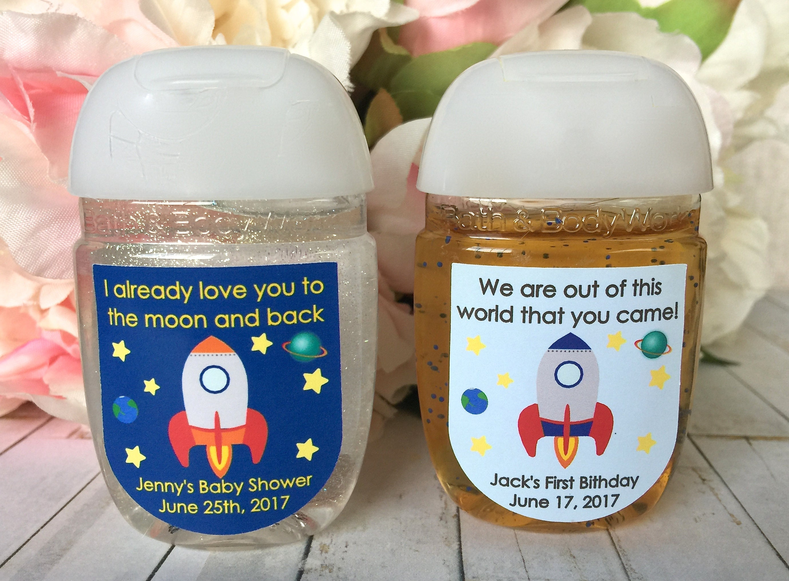 Outer space party Astronaut party favor label Outer space