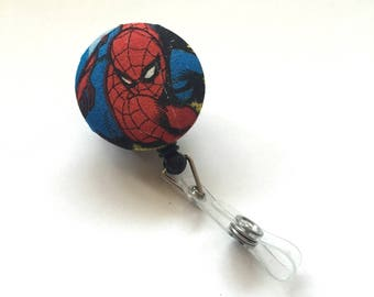 Spiderman ID badge, Badge Holder, Spiderman Badge Holder, Retractable Badge, Nurse Badge, Student Badge, Teacher Badge, Employee Badge