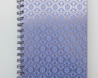 "Notebook, ""Blue & Rose Gold"" Compact Notebook"