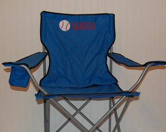 Genial Personalized Baseball Or Softball Camping/Folding Chair