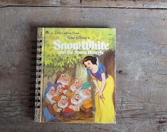 snow white notebook, or journal, or guest book from a little golden book