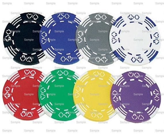 Casino Poker Chips Birthday - Edible Cake and Cupcake Topper For Birthday's and Parties! - D7333