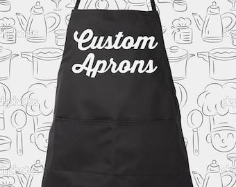 Custom Apron great gift item, Custom Chef Aprons, choose different color aprons