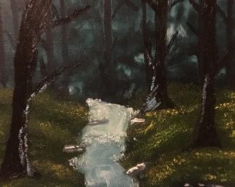 Tranquil Rushing Creek