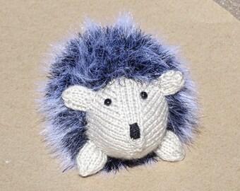 Hedgehog, Stuffed Animal Toy, Knitted Hedgehog, Hand Knitted Toy, Grey Toy, Plush Hedgehog, Knit Hedges, Home Decor, Ready to Ship, Grey Toy