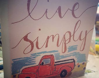 Live Simply with Chevy Pickup