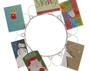 Christmas Wire Wreath Card Holder