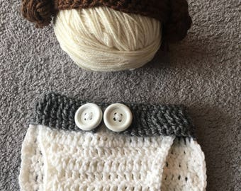 Princess Leia Hat and Diaper Cover