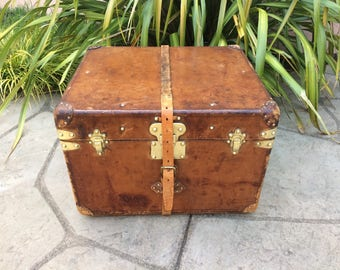 LOUIS VUITTON Antique Leather Steamer Trunk