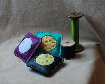 Leather pincushion
