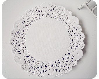 """Wedding paper Lace Doily 9.5"""" for Scrap booking or card making / pack"""