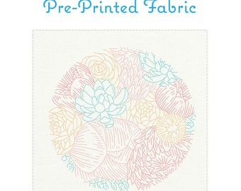 FLORAL PROFUSION fabric for embroidery by StudioMME