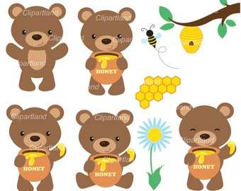 INSTANT Download. Little bear clip art. CB_4. Personal and commercial use.
