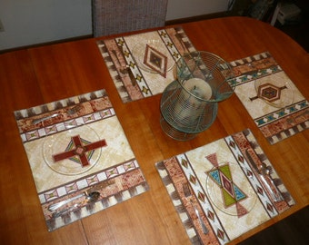 Kilim Placemat Sets - Set of Four - One of each Pattern