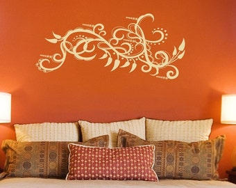 Paisley Peppers and Intricate Swirls - Wall Decals -