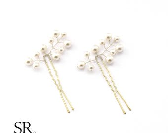 bride wedding Bridal hair jewelry hairpin color selectable flower hair accessory noble high quality wedding ivory beads rose cream