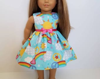 18 Inch Doll-American Girl Dress: Sunshiny day