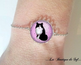 Bracelet fine silver with cabochon 18 mm * wax * (050218)