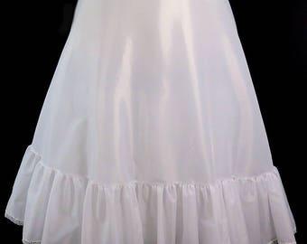 "White Victorian Petticoat, Xlarge Adjustable Waist 36""-49"""