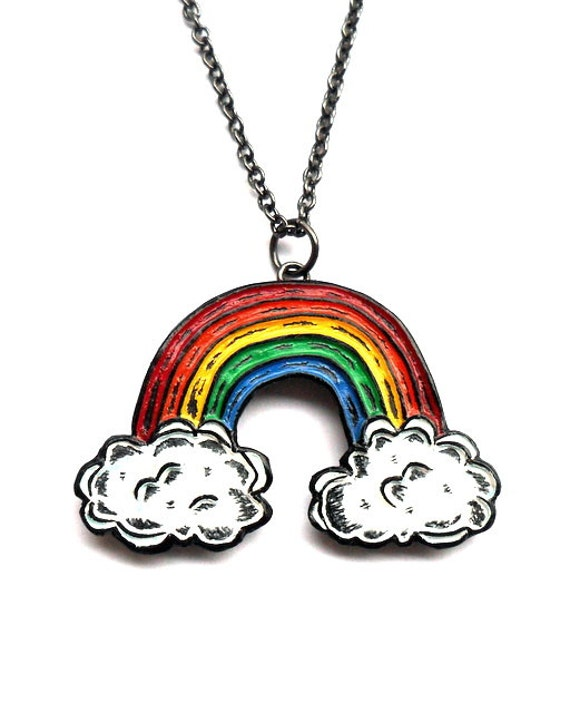 jewelry necklace gay rainbow necklaces demonstration gift choker stainless parade steel woman product and pride for pendant lesbian new wholesale lgbt