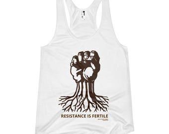 resistance is fertile tank top