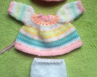 "Hand Knitted Dolls Clothes for 8""  OOAK  Doll (# 345)"