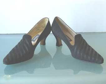 Bally Made in Italy Suede Venetian Court Heels Size 8N