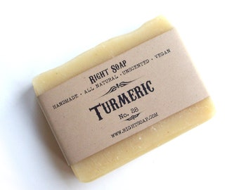 Natural Soap Vegan Soap Unscented Soap Handmade Soaps Face Soap All Natural Soap Cold process Soap Turmeric Soap