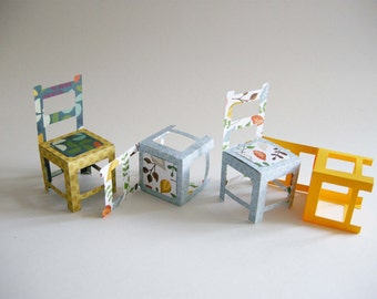 DIY easy chair -paper toy- SVG file