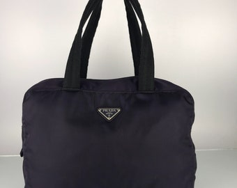 Authentic Vintage Prada Purple Nylon Tote Bag