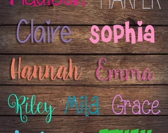 Personalized Name Decal | Any Word Decal | Glitter Font Decals | Customized Decal | Word Vinyl Decal | Window Car Decal | YETI Tumbler Decal