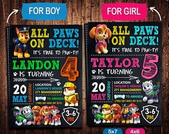 Paw Patrol Invitation, Paw Patrol Invite, Paw Patrol Birthday, Paw Patrol Party, Paw Patrol Printable, Paw Patrol Card, Digital Invitation