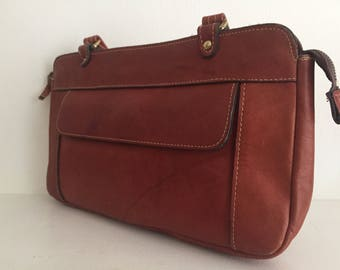 Bohemian Leather Briefcase-style Bag