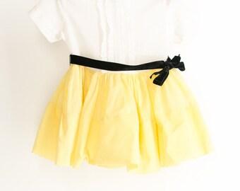 Adorable and Stunning 50 1950s Retro Girl's Dress Toddler Dress Tulle Skirt Dandy Yellow Black White 1T 2T
