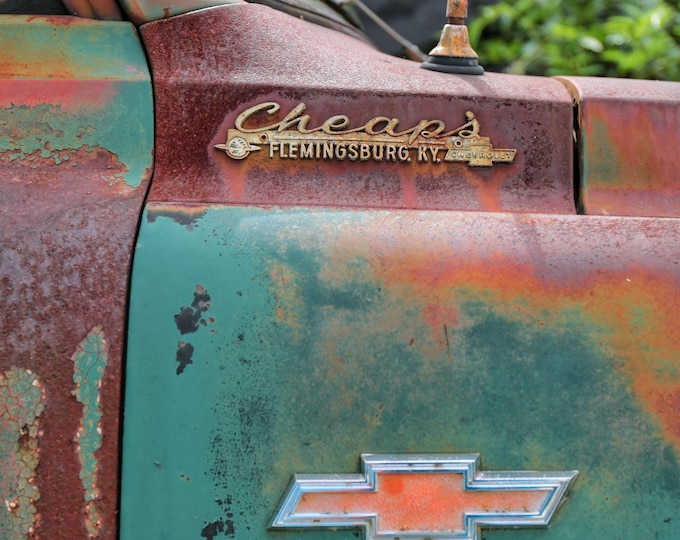 Photography, Antique, Chevy Truck Print, Title:  Colorful Old Chevy Truck