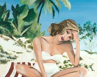 The White Bikini Giclee Print