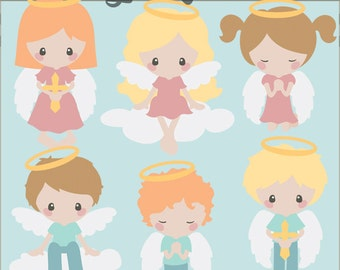 Angel Clipart -Personal and Limited Commercial Use- Angel Kids Digital Clipart