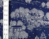 Holiday Print Blue Fabric...