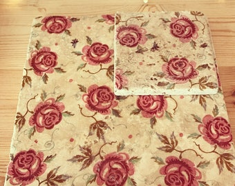 Rose & Bee pot stands and coasters
