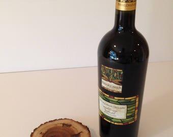 Log Slice Wine Coaster