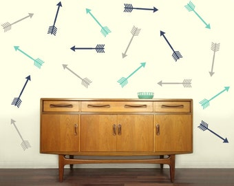 Shooting Arrow Decals | Set of 10 | Vinyl Wall Decal Stickers | Trendy Home Decor | FREE SHIPPING