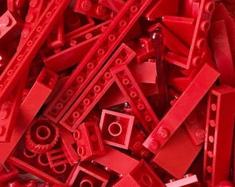 1/2 pound/lb of RED Lego parts and pieces