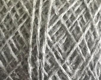 Reclaimed/Recycled Yarn--Heather Gray--acrylic/wool