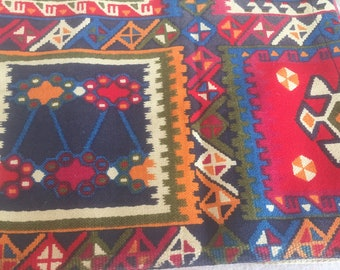 Vintage cotton fabric tablecloth size with Ethnic Styled Quilty Print