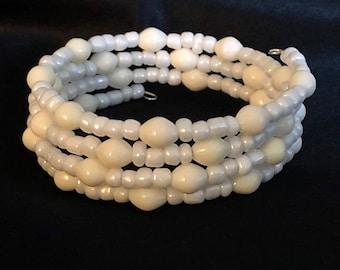 White Bracelet/ Beach Bracelet/ Nautical Bracelet